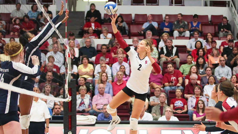 Continuing to play volleyball last season helped Carly Wopat move ahead following the loss of her twin sister Sam, who died in April 2012 eight days after a suicide attempt.