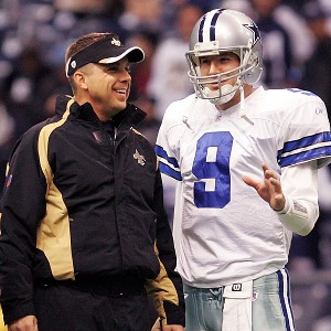 Sean Payton and Tony Romo