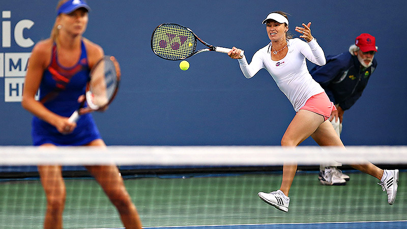 Along with Daniela Hantuchova, Martina Hingis is going to give doubles a go at the US Open.