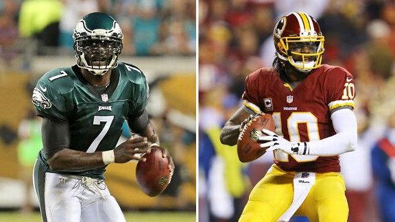 Michael Vick and Robert Griffith III