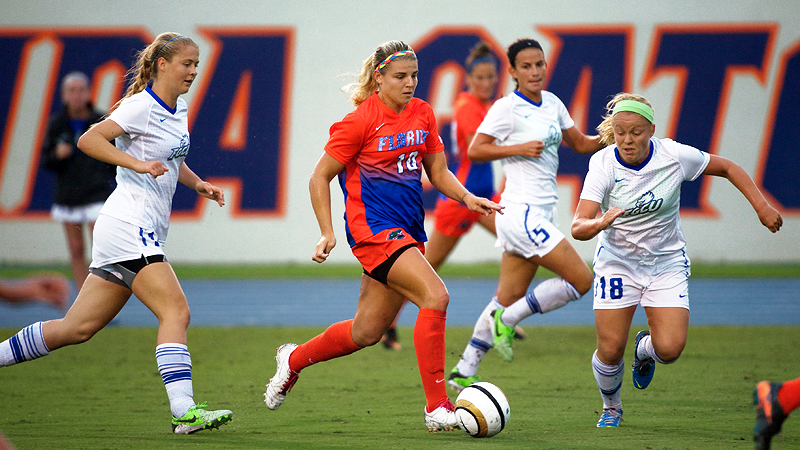 Freshman Savannah Jordan scored five goals in her first two college games to help Florida debut at No. 10.