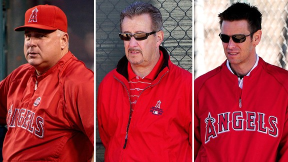 Mike Scioscia, Arte Moreno and Jerry Dipoto