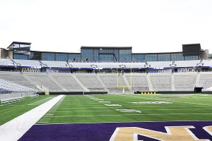 Husky Stadium's relocated student section