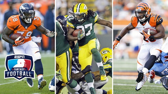 Montee Ball, Eddie Lacy, and Giovani Bernard