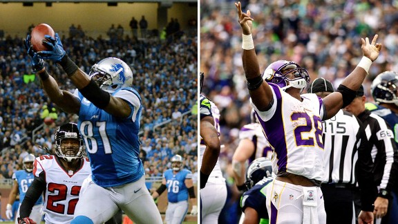 Calvin Johnson, Adrian Peterson