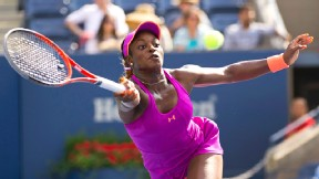 Sloane Stephens defeated fellow American Jamie Hampton, and a meeting with Serena Williams is next.