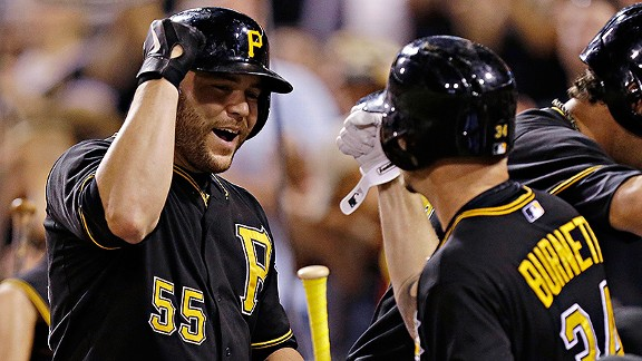 Russell Martin and A.J. Burnett of the Pittsburgh Pirates