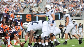 Freshman Christian Hackenberg had some big mistakes but showed poise in Penn State's win.