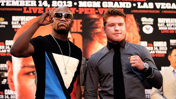 Floyd Mayweather and Canelo Alvarez