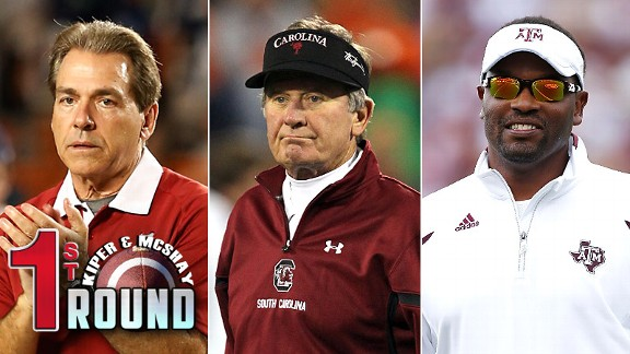 Nick Saban, Steve Spurrier & Kevin Sumlin