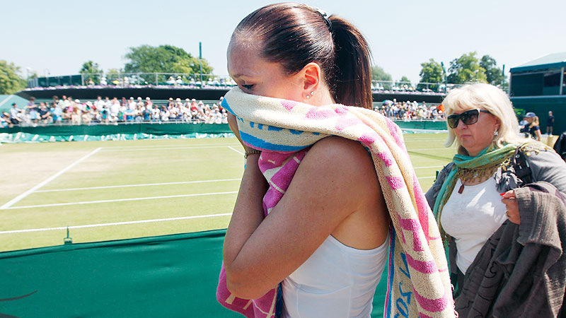 Serbia's Jelena Jankovic knows pain. She retired from a fourth-round match at Wimbledon in 2010 because of a back injury.
