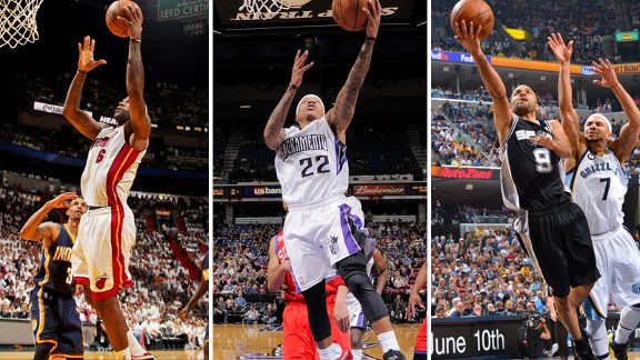 LeBron James, Isaiah Thomas, Tony Parker