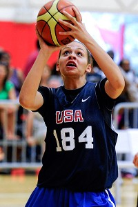 Chelsea Dungee won a gold medal with USA Basketball this past summer at the 2013 FIBA Americas U16 Championship in Mexico.