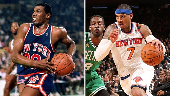 Bernard King and Carmelo Anthony