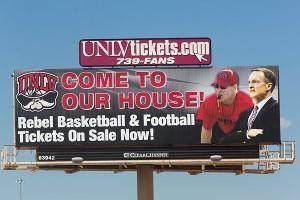 UNLV billboard