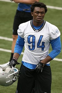 Lions rookie Ansah (concussion) at practice