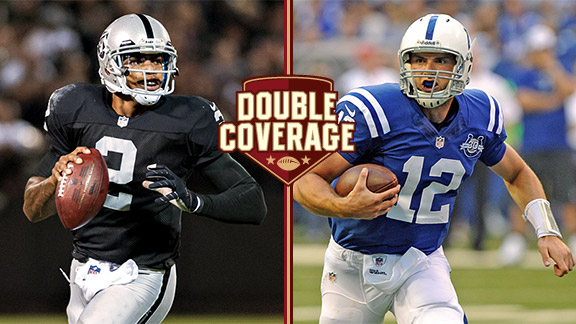 Terrelle Pryor and Andrew Luck