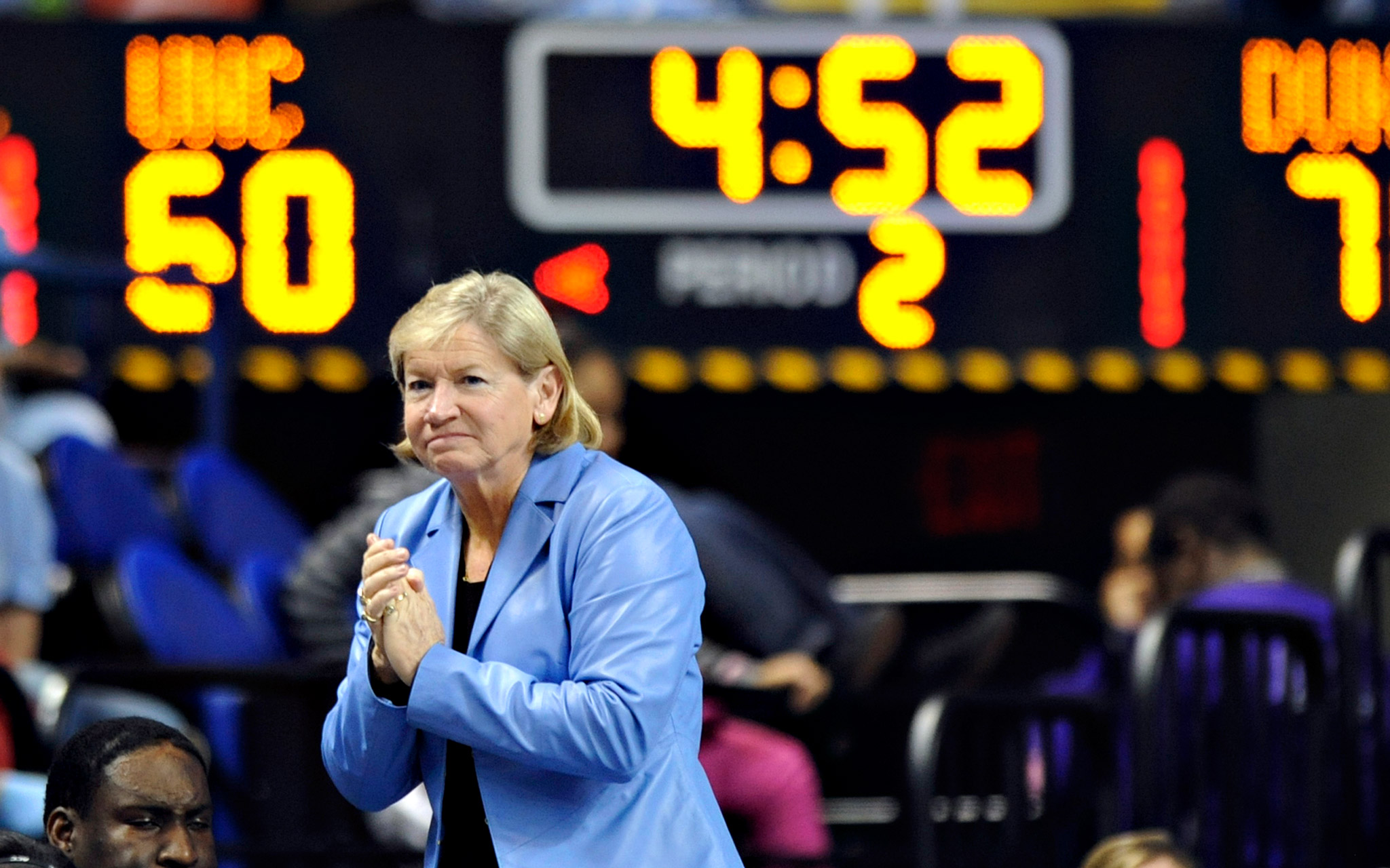 After 27 seasons at North Carolina and 38 overall, Sylvia Hatchell's career record is  908-321.