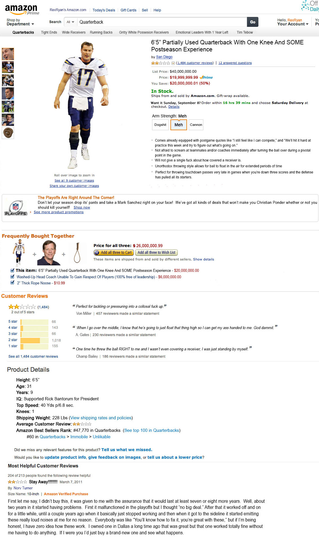 Philip Rivers on Amazon.com