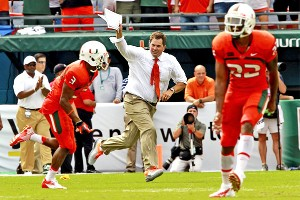 Miami coach Al Golden and the Hurricanes beat Florida 21-16 on Saturday in their final scheduled regular-season matchup.