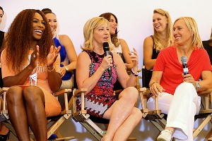 Serena Williams, Chris Evert and Martina Navratilova