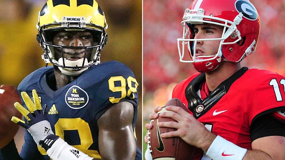 Devin Gardner and Aaron Murray
