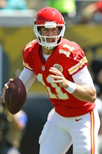 Alex Smith has two interceptions this season, and it could be argued neither was his fault.