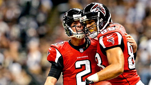 Matt Ryan and Tony Gonzalez