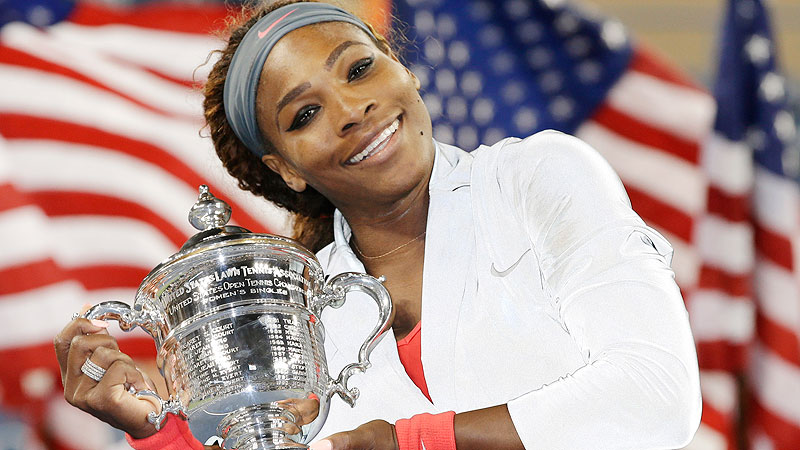 Serena Williams was 31 years, 256 days when she became the oldest woman in the Open Era to win the US Open.