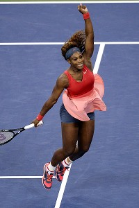 Serena Williams was pushed to three sets, but claimed her fifth US Open title after defeating Victoria Azarenka.