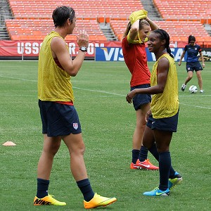 Crystal Dunn joined Abby Wambach during national team training in Washington D.C., where Dunn was in the starting lineup as an outside back in a friendly against Mexico.