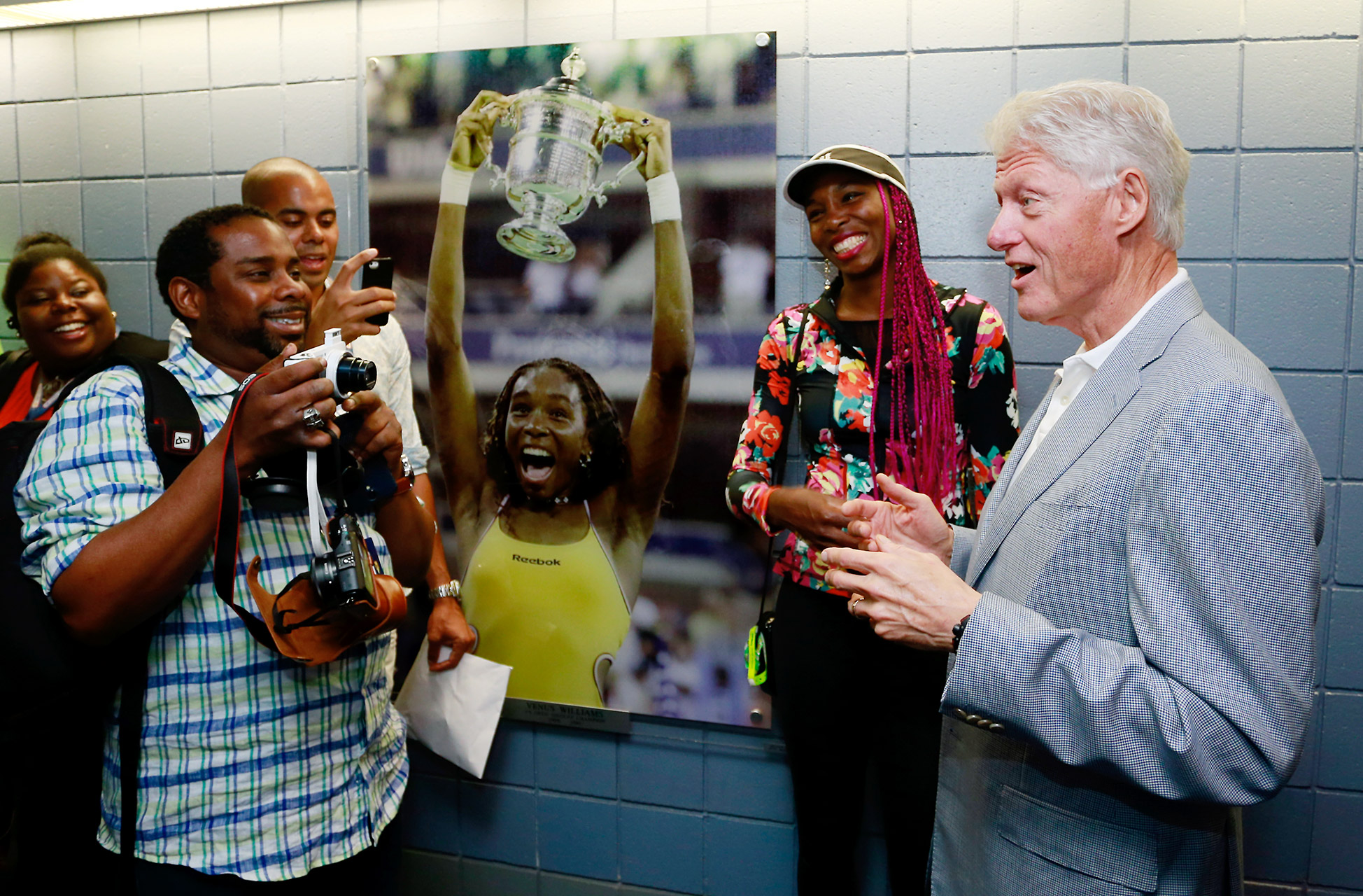 Venus Williams and Bill Clinton