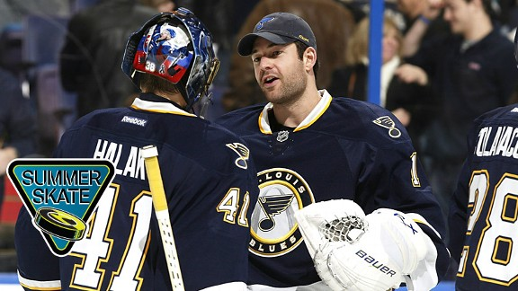 Jaroslav Halak and Brian Elliott