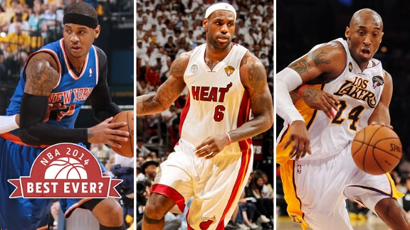 Carmelo Anthony, LeBron James, Kobe Bryant