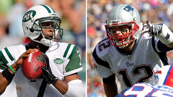 Geno Smith and Tom Brady