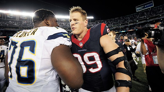 D.J. Fluker and J.J. Watt