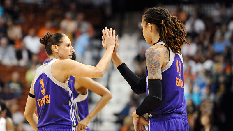 Diana Taurasi and brittney griner