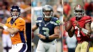 Peyton Manning, Russell Wilson, Colin Kaepernick