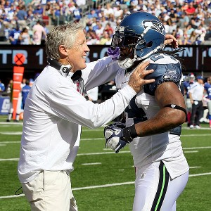 Marshawn Lynch provides an old-school edge for Pete Carroll's new-age coaching style.
