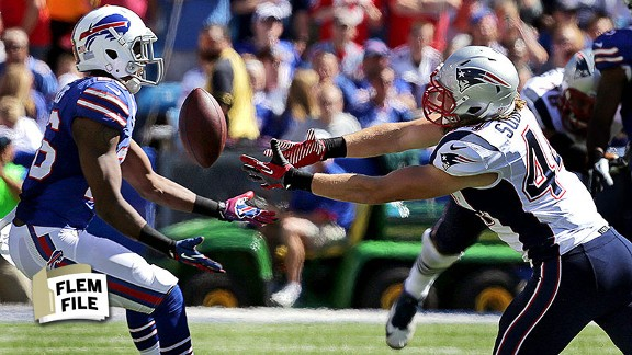 A tipped pass turned what looked like a rout of Buffalo into a nail-biter for the Patriots.