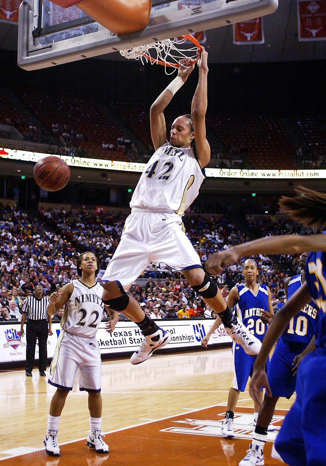 Even in high school, Brittney Griner rose above the competition and was a frequent dunker at Nimitz High School in Houston.