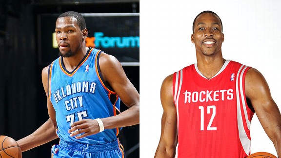 Kevin Durant and Dwight Howard