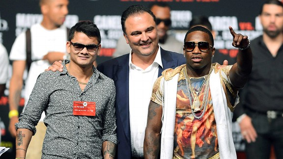 Marcos Maidana, Richard Schaefer and Adrien Broner