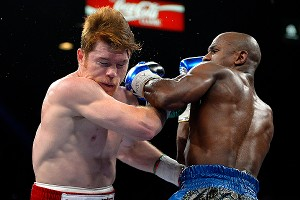 Floyd Mayweather Jr. and Canelo Alvarez