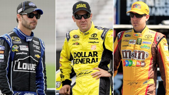 Matt Kenseth, Jimmie Johnson, Kyle Busch