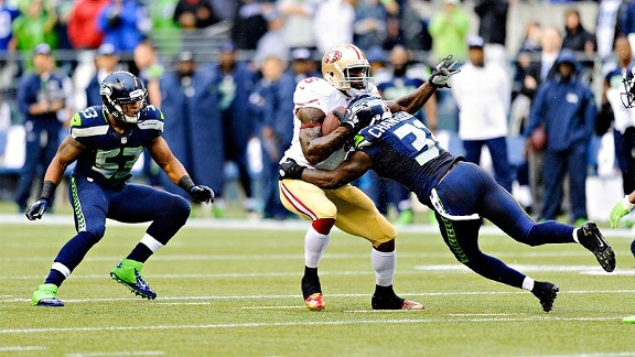Seahawks send message, storm past 49ers