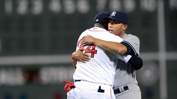 David Ortiz and Mariano Rivera