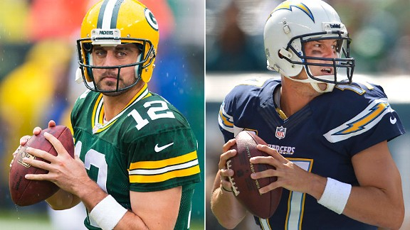 Aaron Rodgers and Philip Rivers
