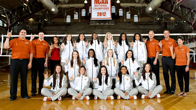 Defending NCAA champion Texas plays Nebraska on Sunday, then begins conference play next week.