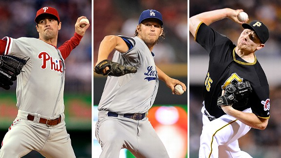 Cole Hamels, Clayton Kershaw and Mark Melancon